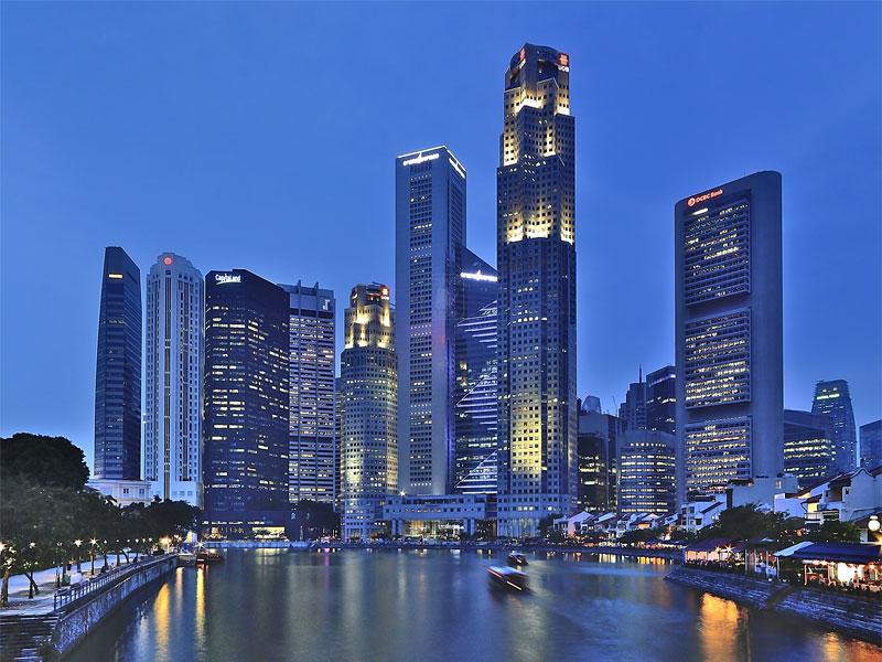 Деловой квартал Сингапура полностью построен на насыпной территории