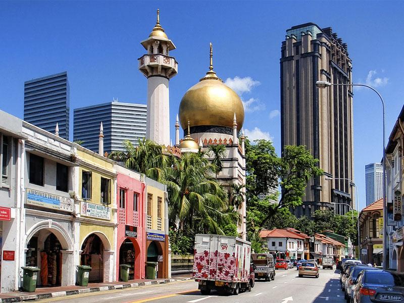 Кампонг Глам - это главное место сохранения мусульманской культуры в Сингапуре