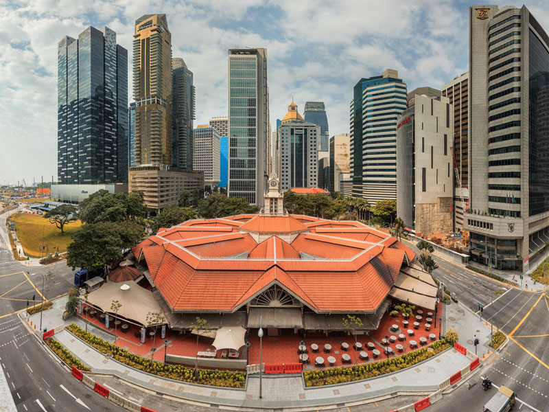 Восьмиугольное здание рынка Лау Па Сат выполнено в типично викторианском стиле