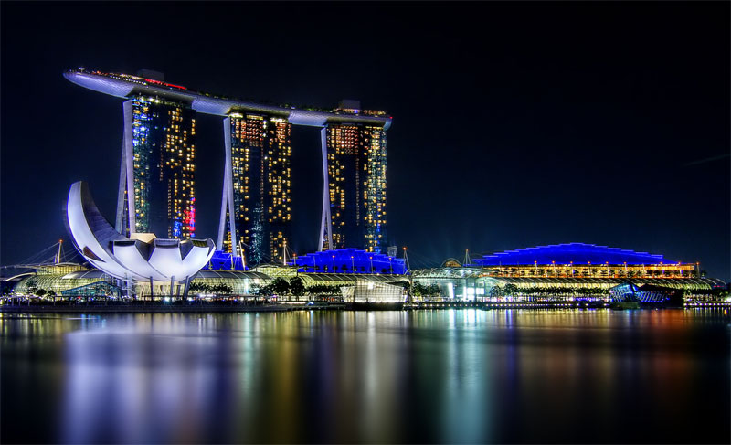 Залив Марина Бэй в Сингапуре