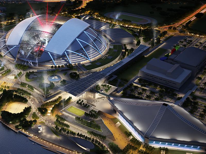 Финал тура WTA проходит на современных площадках Сингапурского спортивного хаба