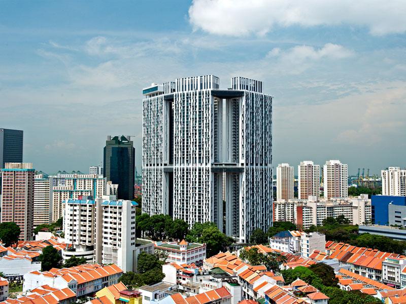Pinnacle@Duxton - первое жилое здание в Сингапуре с высотными садами