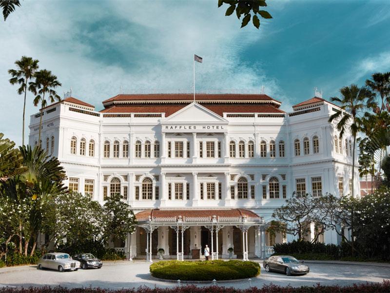 Отель Раффлз - это главное свидетельство колониального прошлого Сингапура