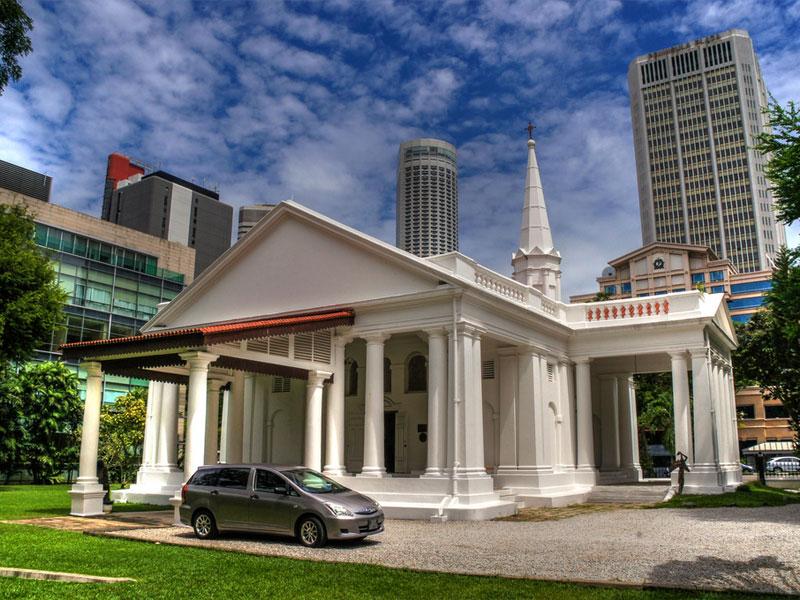 Армянская церковь является самым первым христианским храмом Сингапура