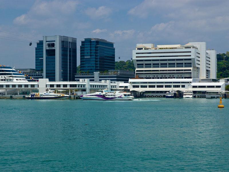 Квартал Харбор Фронт - это морские ворота Сингапура
