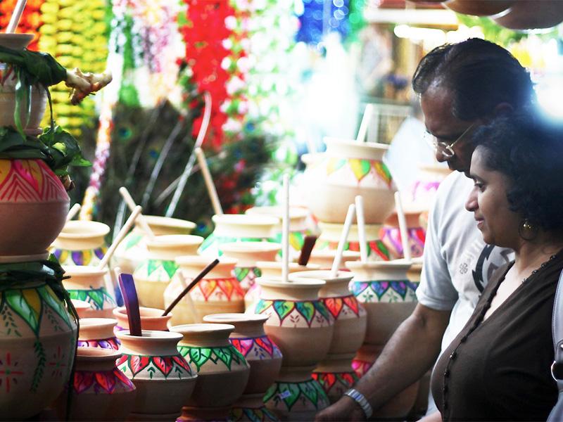 Главный символ фестиваля Понгал - горшочек с кипящим рисом