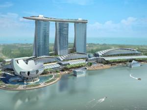 Интегрированный курорт Marina Bay Sands в Сингапуре