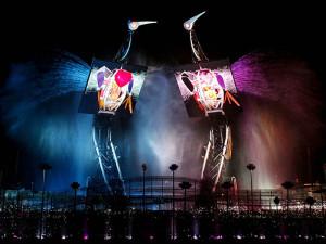 Шоу «Танец журавлей» в Сингапуре